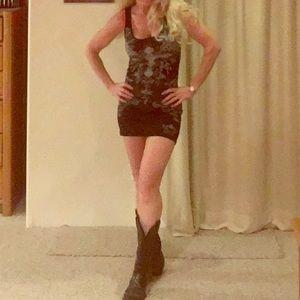 Dresses & Skirts - Black cowgirl tank dress